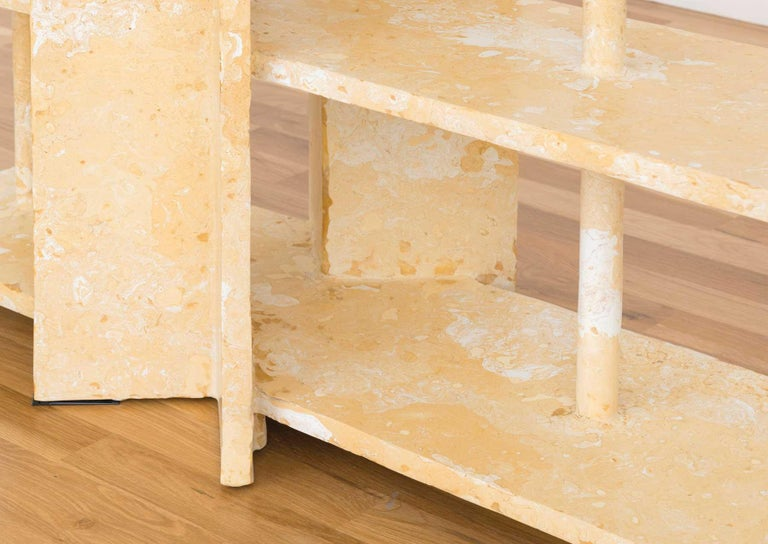 Mottled Shelf is Presented by Volume Gallery  Mottled shelf by Ross Hansen is a wonderful storage piece for one's home.