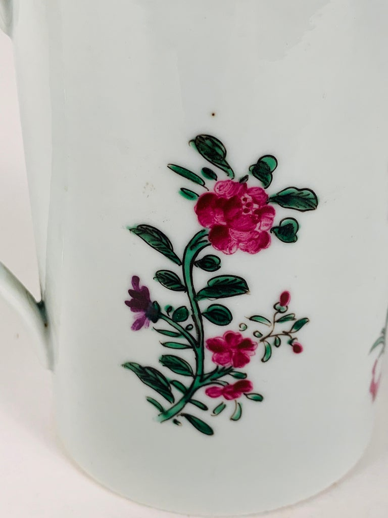 Neoclassical Motto God Save the King Hand Painted on an 18th Century Chinese Porcelain Mug For Sale