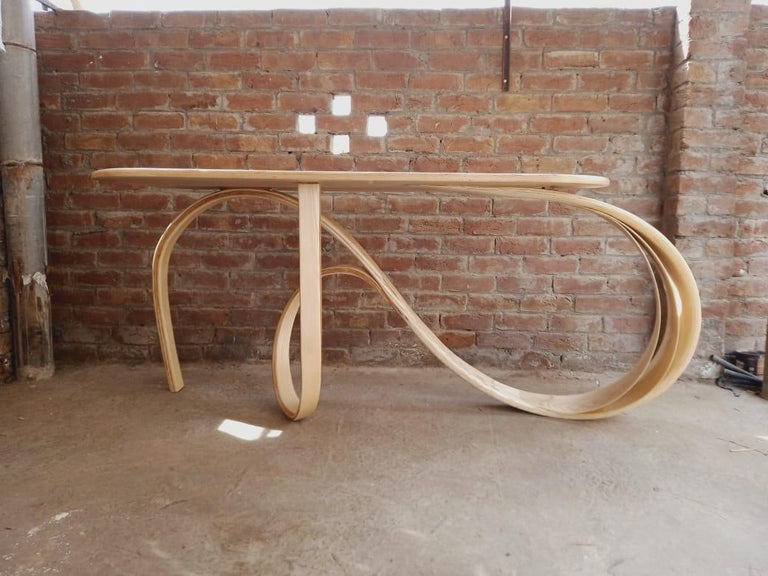 Motus Console Table By Raka Studio - Bent Wood In New Condition For Sale In Cape Girardeau, MO