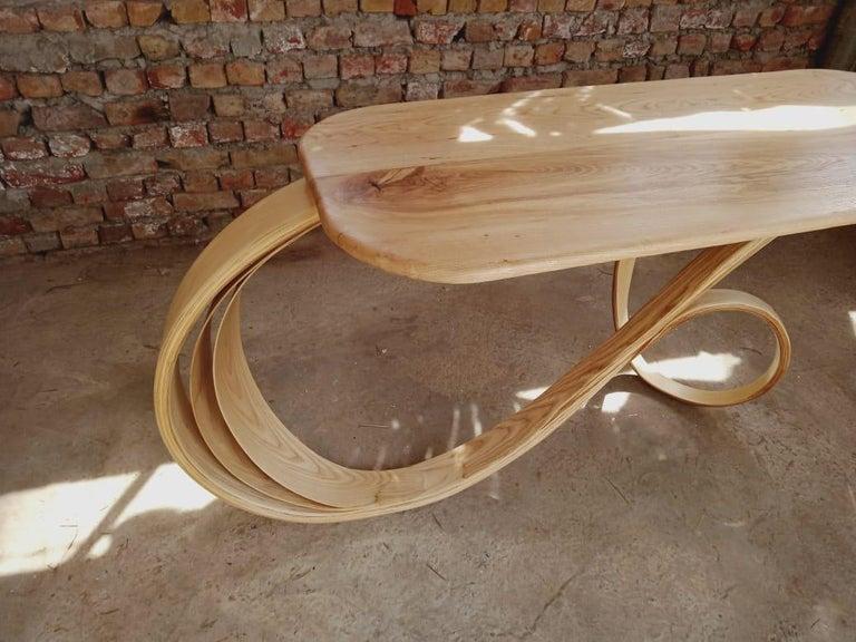 Hardwood Motus Console Table By Raka Studio - Bent Wood For Sale