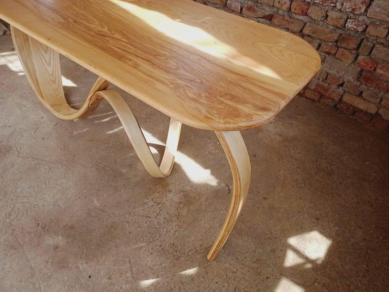 Motus Console Table By Raka Studio - Bent Wood For Sale 1