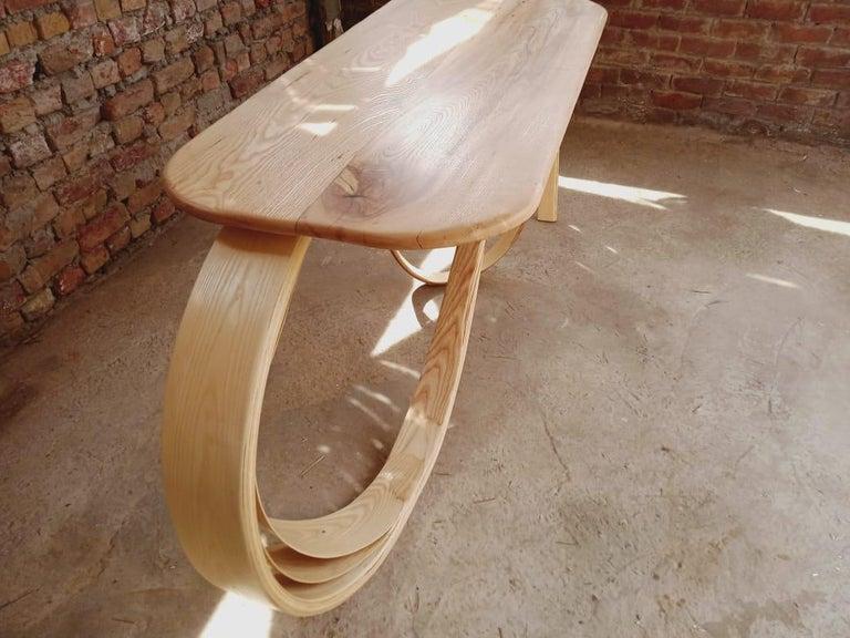 Motus Console Table By Raka Studio - Bent Wood For Sale 2