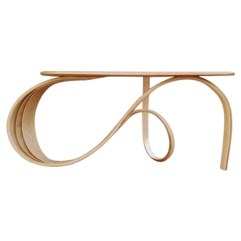 Motus Console Table By Raka Studio - Bent Wood For Sale
