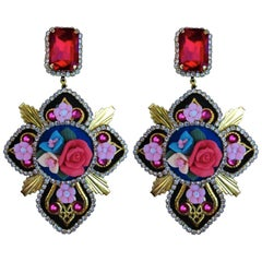 Mouchkine French Handmade Limited Series Dolce Vita Pierced Earrings