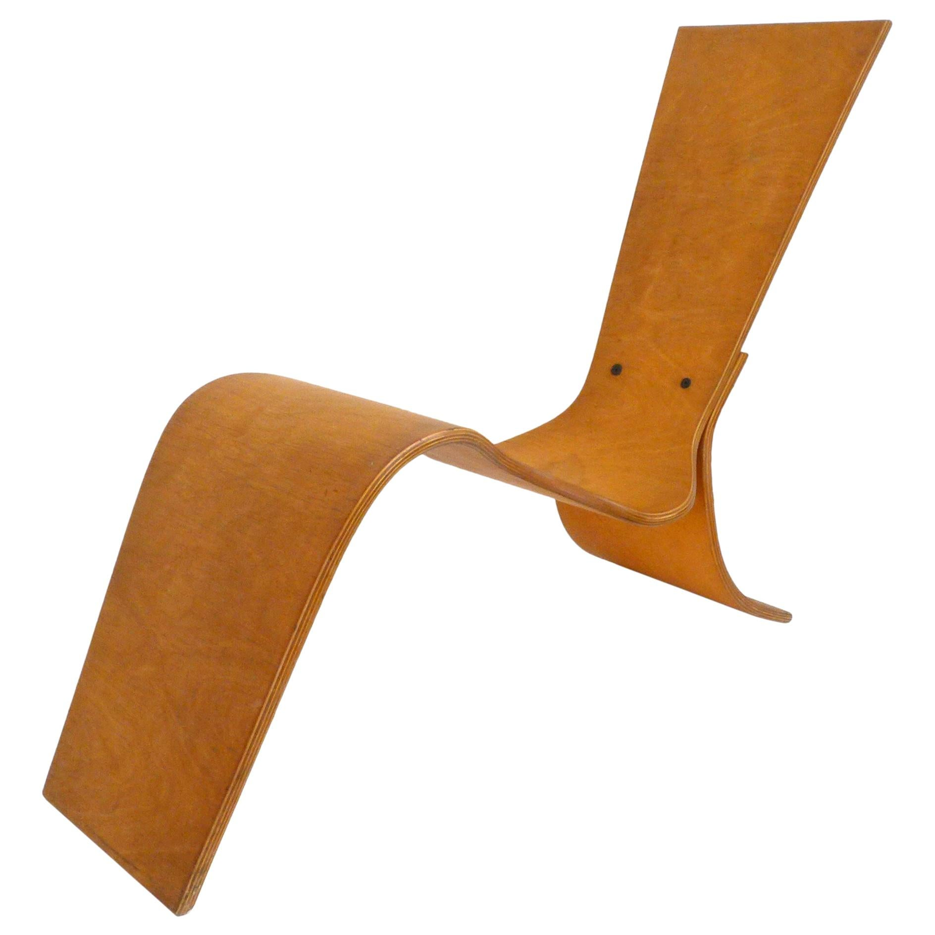 Moulded Plywood Lounge Chair by Lauren Page