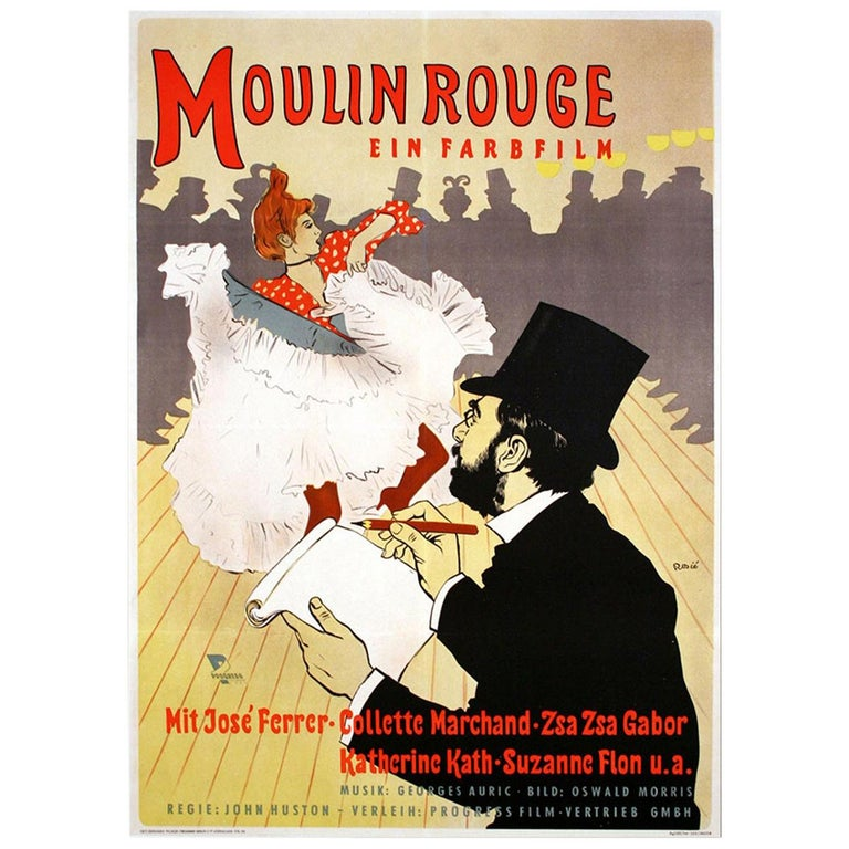 """""""Moulin Rouge"""" 1952 Poster For Sale"""