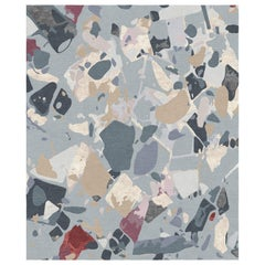 Moulin Rouge - Multicolor Modern Hand Knotted Wool Silk Rug