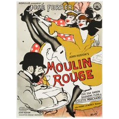 """Moulin Rouge"" Original Vintage Movie Poster, Danish, 1955"