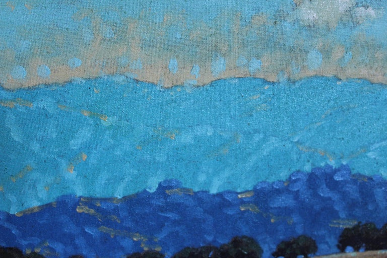 Mount Diablo by Donny Holm, Oil on Canvas In Good Condition For Sale In Geneva, IL
