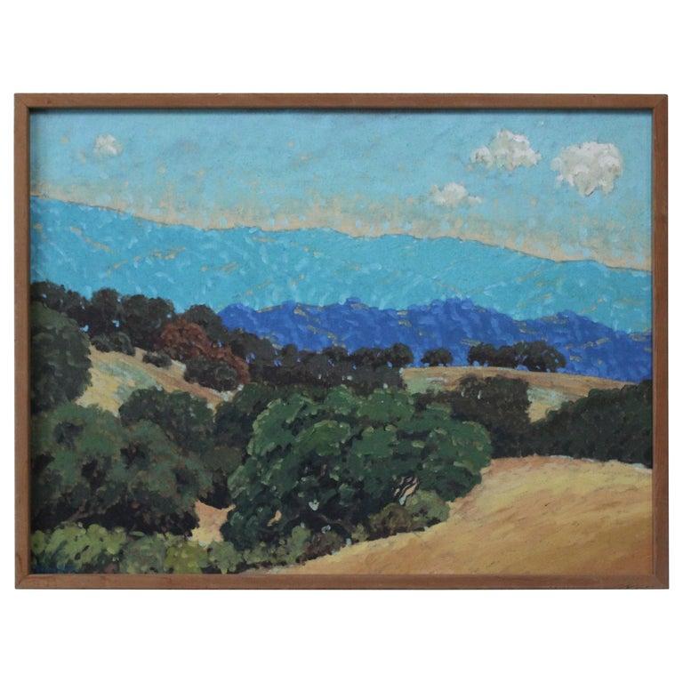 Mount Diablo by Donny Holm, Oil on Canvas For Sale