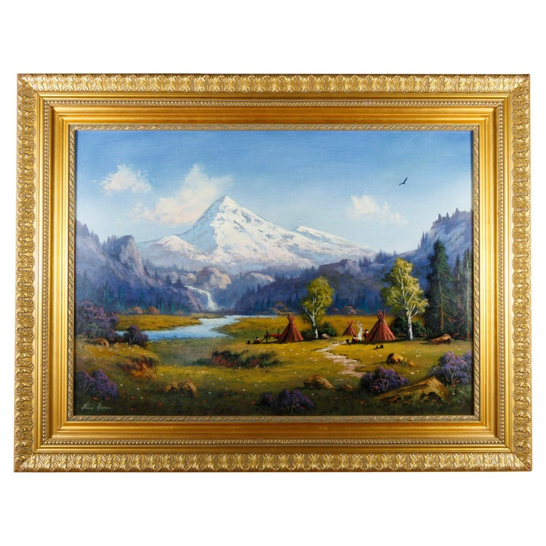 """Mount Hood Oregon"" Original Painting by Heinie Hartwig For Sale"