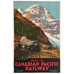 """Mount Stephen Canadian Pacific Railway,"" Original Vintage Poster by Trompf"