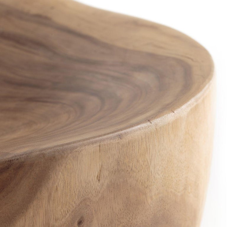 Mountain Forest Contemporary Armchair Made with a Single Section of Solid Wood In New Condition For Sale In New York, NY