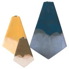 """Mountain"" Geometric Vases by John Sheppard, Set of 3"