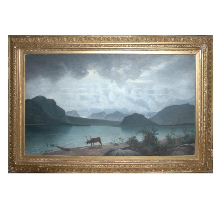 Artists: Johan Ringsten (1848-1911) or Per D. Holm (1835-1903) Oil on canvas View of a