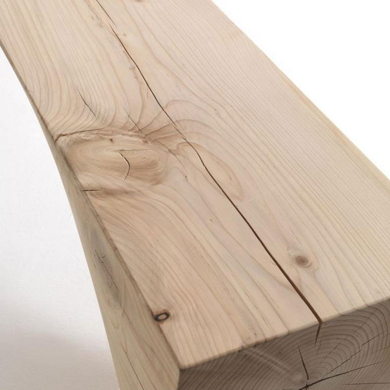 Modern Mountains Cedar Bench, Designed by Hsiao-Ching Wang, Made in Italy For Sale