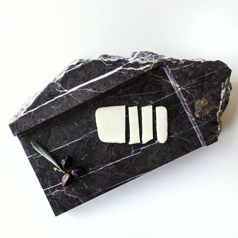 Mountainscapes Black Marble Tray For Sale 2