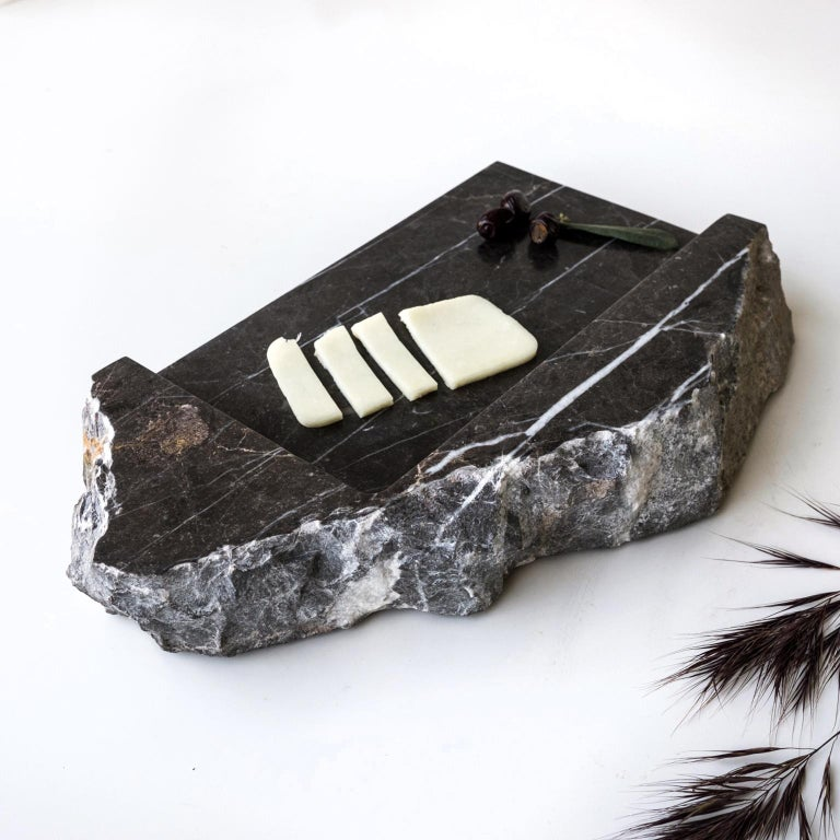 Mountainscapes Black Marble Tray For Sale 3