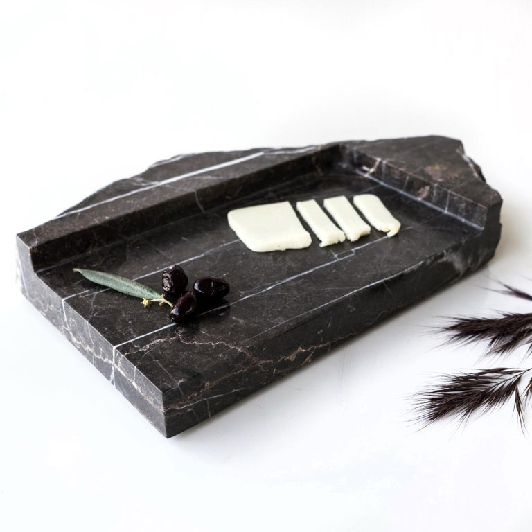 Mountainscapes Black Marble Tray For Sale 4
