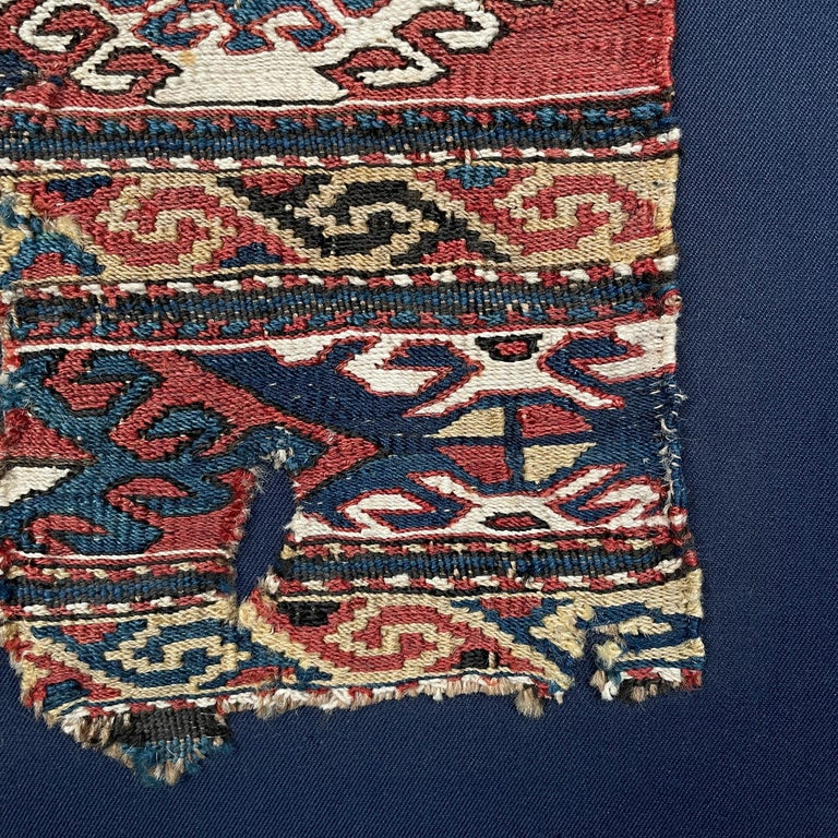 Mounted 19th Century Soumak Rug Fragment For Sale 4