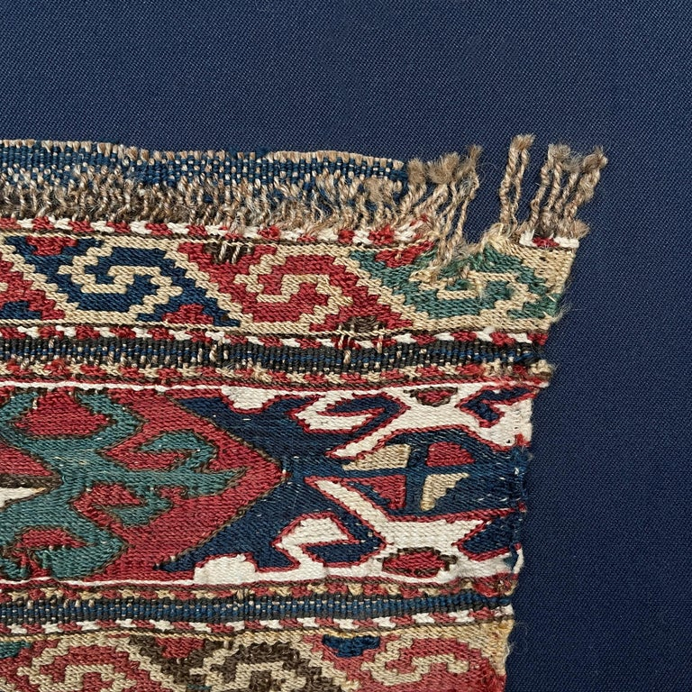 Mounted 19th Century Soumak Rug Fragment For Sale 3
