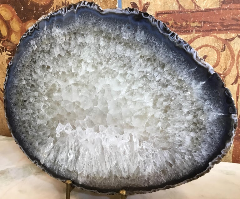 Mounted Crystal Quartz Agate In Good Condition For Sale In Delray Beach, FL