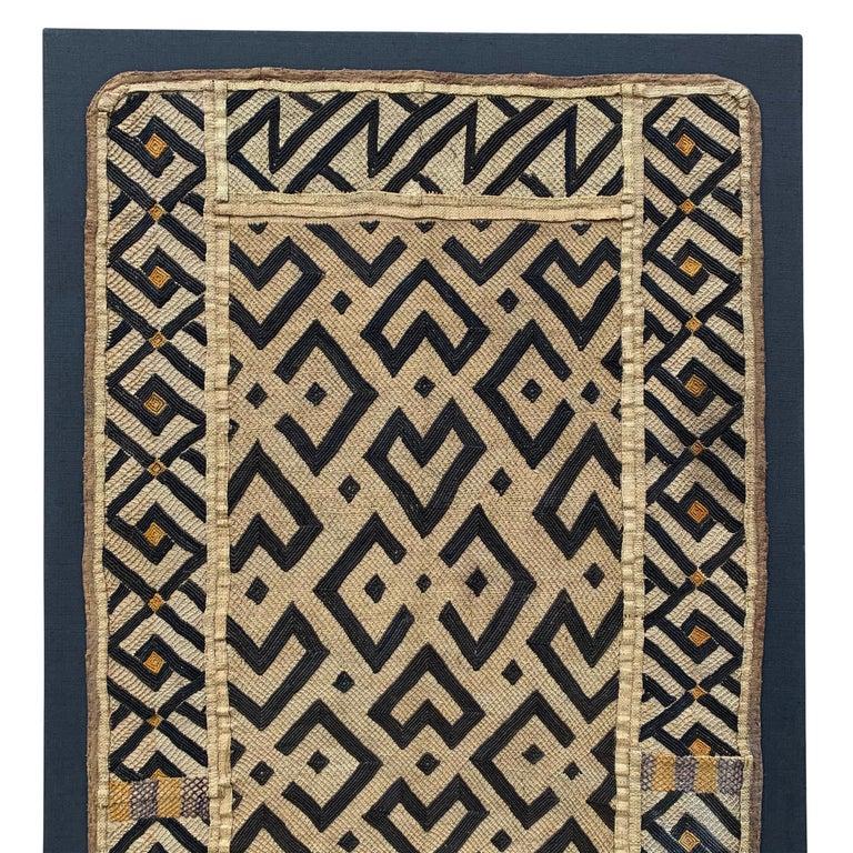 Tribal Mounted Kuba Cloth Panel For Sale