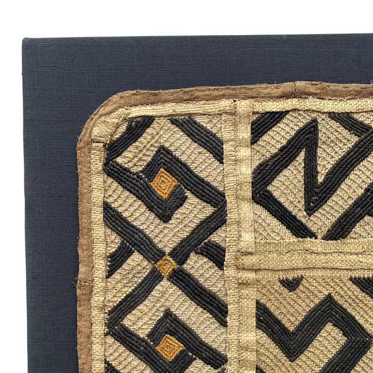 Mounted Kuba Cloth Panel In Good Condition For Sale In Chicago, IL