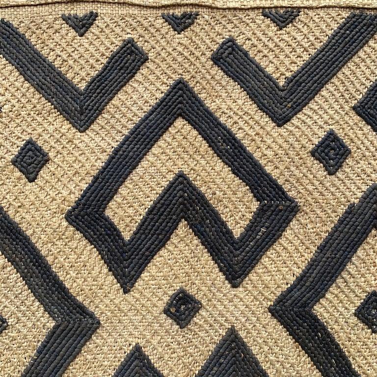 20th Century Mounted Kuba Cloth Panel For Sale