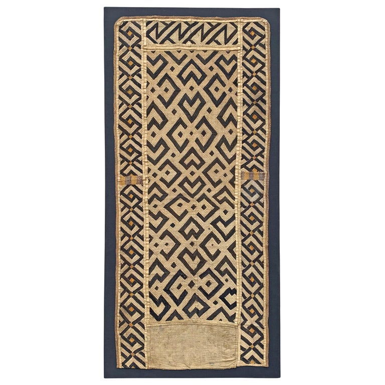 Mounted Kuba Cloth Panel For Sale