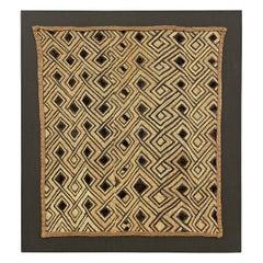 Mounted Kuba Cloth Panel