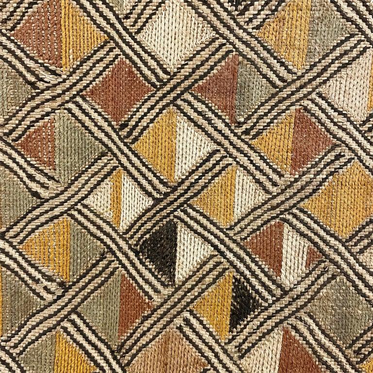 20th Century Mounted Kuba Shoowa Embroidered Cloth For Sale
