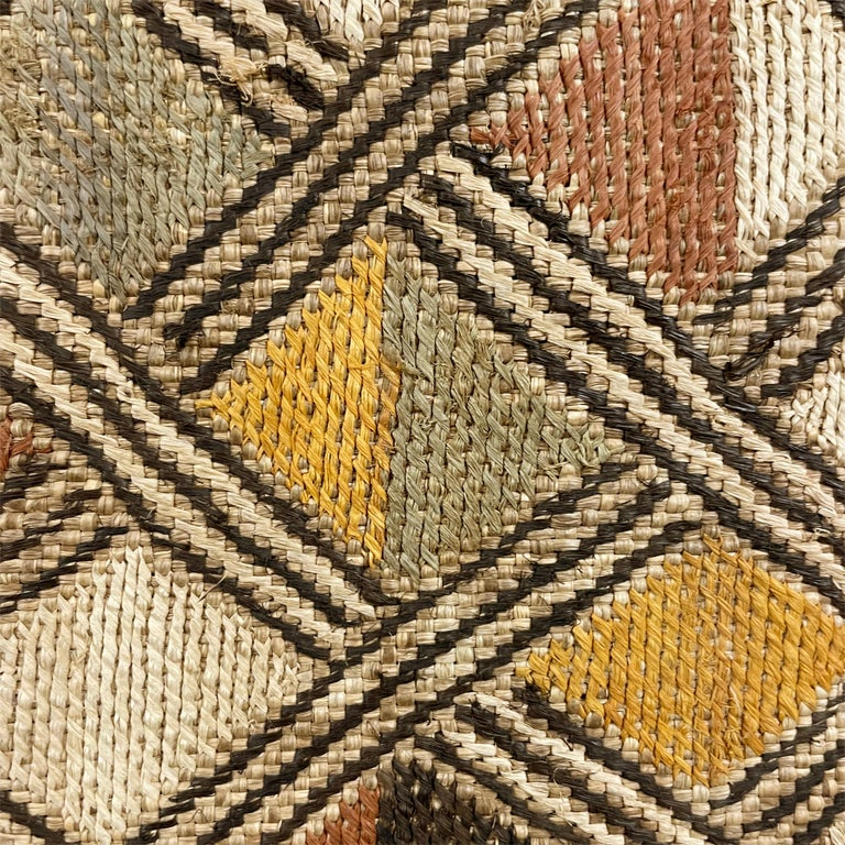 Mounted Kuba Shoowa Embroidered Cloth For Sale 1