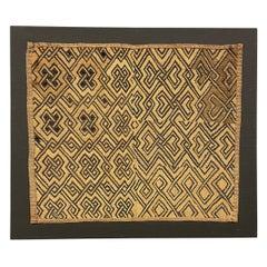Mounted Shoowa Kuba Cloth Panel