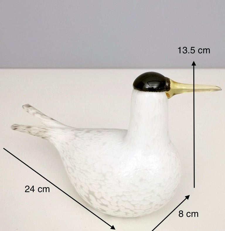 Mounth-Blown Glass Artic Tern by Oiva Toikka for Ittala, Finland, 2000s For Sale 7