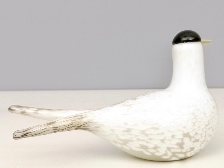 Mounth-Blown Glass Artic Tern by Oiva Toikka for Ittala, Finland, 2000s In Excellent Condition For Sale In Bresso, Lombardy
