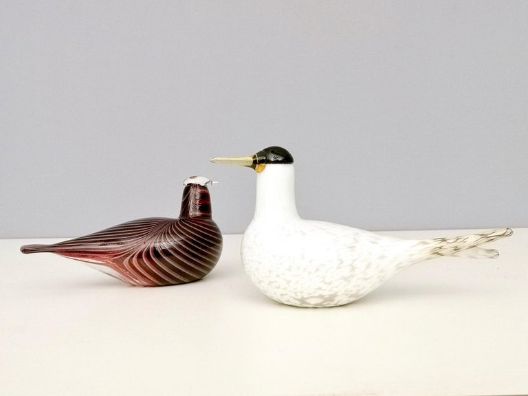 Mounth-Blown Glass Artic Tern by Oiva Toikka for Ittala, Finland, 2000s For Sale 1