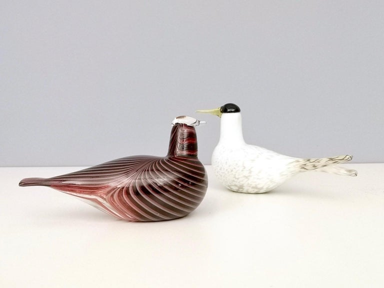 Mounth-Blown Glass Artic Tern by Oiva Toikka for Ittala, Finland, 2000s For Sale 2