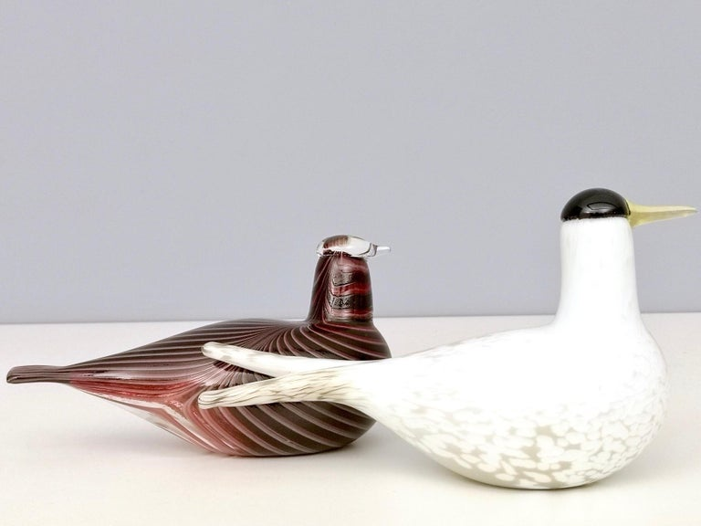 Mounth-Blown Glass Artic Tern by Oiva Toikka for Ittala, Finland, 2000s For Sale 3