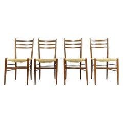 Mouse over image to zoom Italian Teak Dining Chairs-with Rush Seats, Vintage