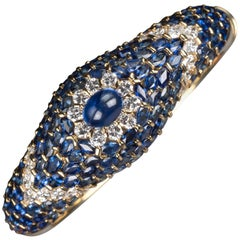 Moussaieff High Jewelry Blue Sapphire and Diamond Bracelet