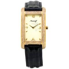 """Moussaieff Le Jour """"Profile"""" 18 Karat Gold Ladies Wristwatch Set with Diamonds"""