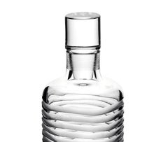 Mouth Blown, Hand-Cut Crystal Whisky Decanter Hand-Crafted in Italy