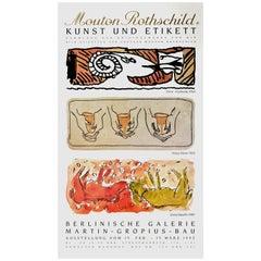 Mouton Rothschild Wine Label Art Exhibition Poster Alechinsky Moore Baselitz