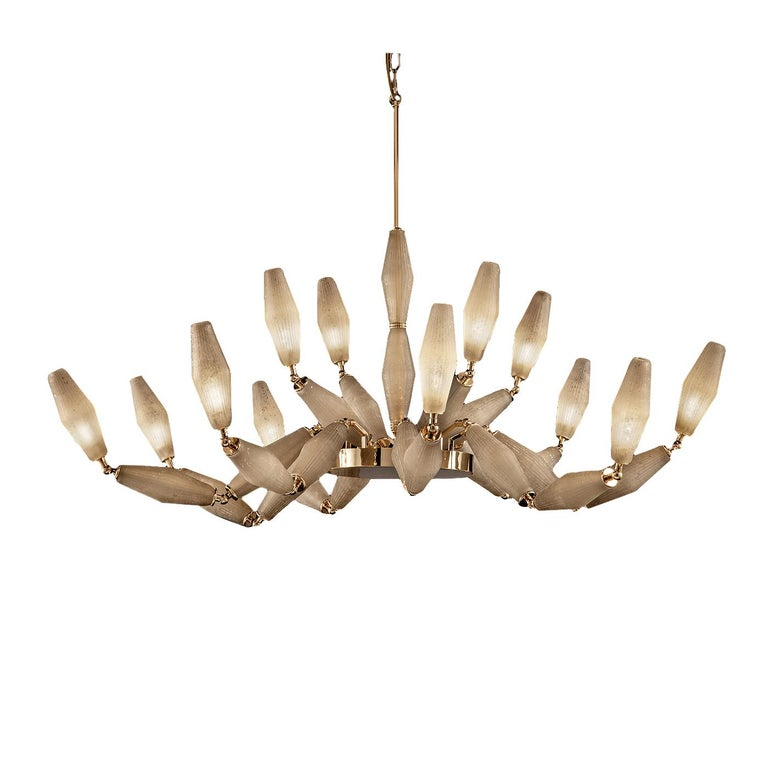 Italian Mov Vintage Chandelier 12 Lights