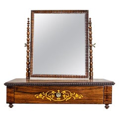 Movable Inlaid Vanity Table, circa 1910-1920