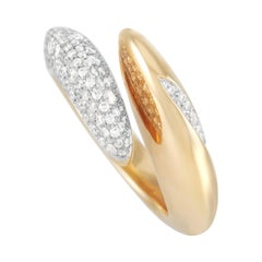 Movado 18k Yellow Gold 0.75 Ct Diamond Ring