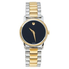 Movado Black  Stainless Steel 2100018 Museum Quartz Women's Wristwatch 28MM