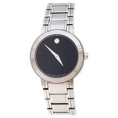 Movado Black Stainless Steel M0.08.03.014.1031.1033.4/002 Women's Wristwatch 27M