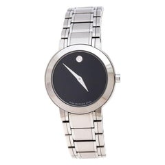 Movado Black Stainless Steel M0.08.03.014.1031.1033.4/002 Womens Wristwatch 27MM